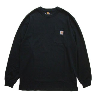 CARHARTT POCKET LONG SLEEVE TEE BLACK