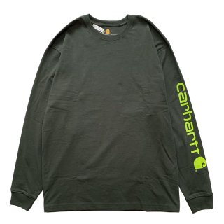 CARHARTT ARM LOGO LONG SLEEVE TEE PEAT LIME