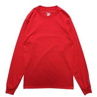 CHAMPION 6oz HEAVY WEIGHT LS TEE RED