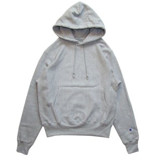 CHAMPION REVERSE WEAVE PULLOVER HOOD GREY