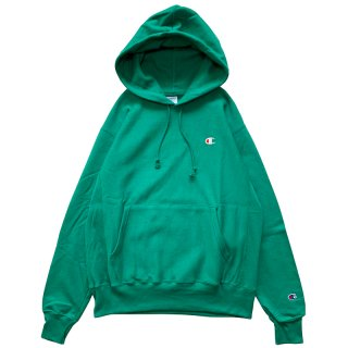 CHAMPION REVERSE WEAVE PULLOVER HOODY KELLY GREEN