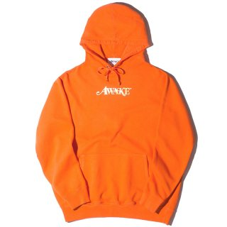 AWAKE NY METALLIC FOIL LOGO HOODIE ORANGE