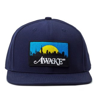 AWAKE NY SKYLINE PATCH HAT NAVY