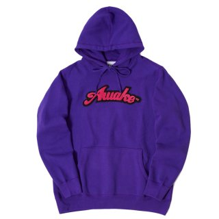 AWAKE NY VARSITY CHENILLE PATCH LOGO HOODIE PURPLE