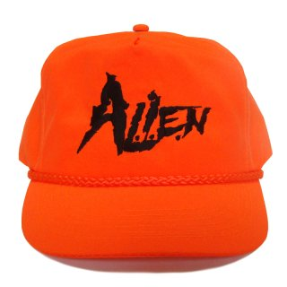 A.L.I.E.N. NEON ORANGE LOGO SNAP CAP