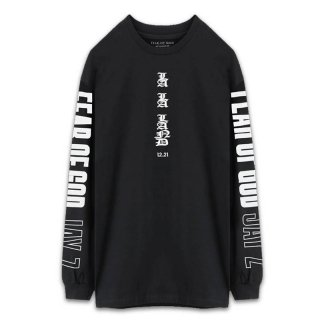 FEAR OF GOD JAY Z LONG SLEEVE T SHIRT BLACK