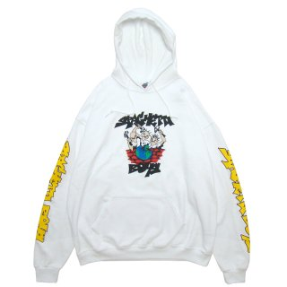 SPAGHETTI BOYS EARTH BEATERS HOODIE VINTAGE WHITE