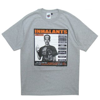 SPAGHETTI BOYS INHALANTS TEE LIGHT STONE GREY