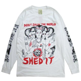 COME TEES SHED THE WORLD LONG SLEEVE WHITE