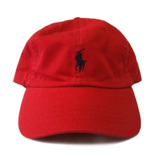 POLO RALPH LAUREN 6 PANEL CAP RED NAVY