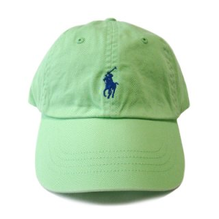 POLO RALPH LAUREN 6 PANEL CAP LIME ROYAL