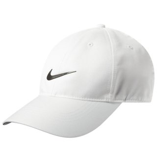 NIKE GOLF DRI FIT SWOOSH FRONT CAP WHITE