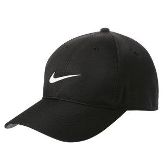 NIKE GOLF DRI FIT SWOOSH FRONT CAP BLACK