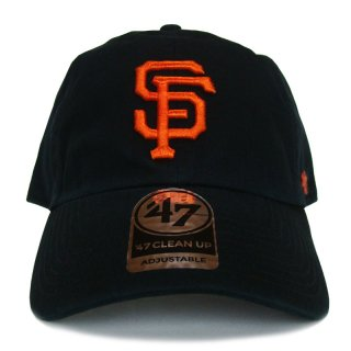 "'47 BRAND ""SAN FRANCISCO GIANTS"" CLEAN UP TWILL CAP BLACK"