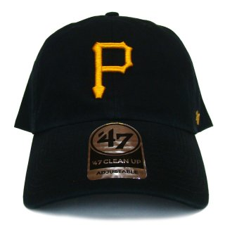 "'47 BRAND ""PITTSBURGH PIRATES"" CLEAN UP TWILL CAP BLACK"