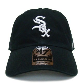 "'47 BRAND ""CHICAGO WHITE SOX"" CLEAN UP TWILL CAP BLACK"