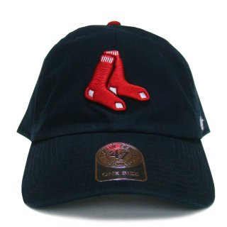 "'47 BRAND ""BOSTON RED SOX"" CLEAN UP TWILL CAP AL NAVY"