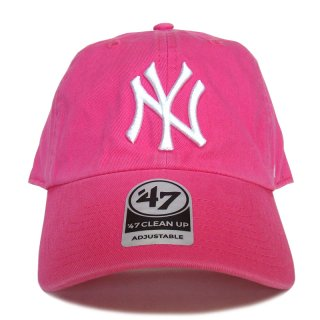 "'47 BRAND ""NEW YORK YANKEES"" CLEAN UP TWILL CAP PINK"
