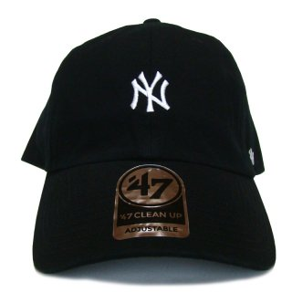 "'47 BRAND ""NEW YORK YANKEES"" CENTERFIELD CLEAN UP TWILL CAP BLACK"