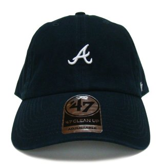 "'47 BRAND ""ATLANTA BRAVES"" CENTERFIELD CLEAN UP TWILL CAP NAVY"