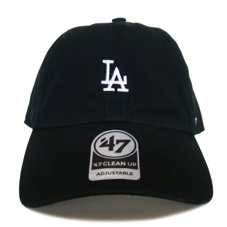 "'47 BRAND ""LOS ANGELS DODGERS"" CENTERFIELD CLEAN UP TWILL CAP BLACK"