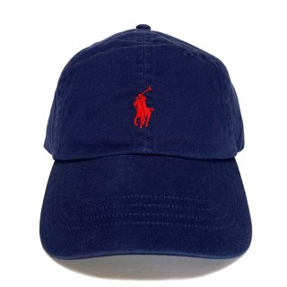 POLO RALPH LAUREN 6 PANEL CAP NAVY RED