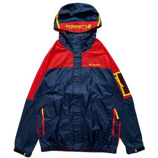 COLUMBIA PAVLOF ROAD JACKET NAVY RED