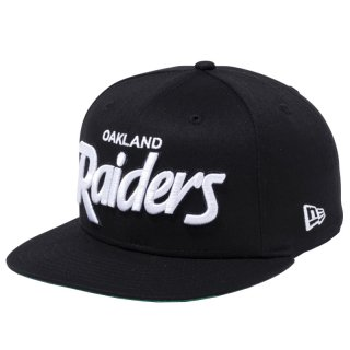 NEW ERA  9FIFTY OAKLAND RAIDERS BLACK WHITE