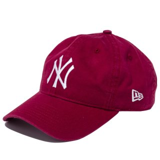 NEW ERA 9TWENTY CLOTH STRAP WASHED COTTON YANKEES CARDINAL