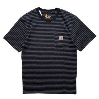 CARHARTT BORDER POCKET TEE BLACK