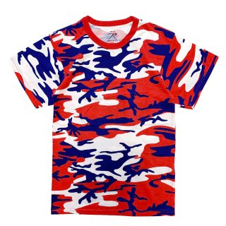 ROTHCO S/S TEE RED BLUE CAMO