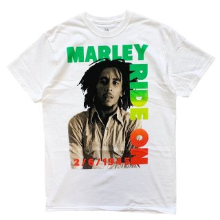 BOB MARLEY OFFICIAL LICENSE RIDE ON TEE WHITE