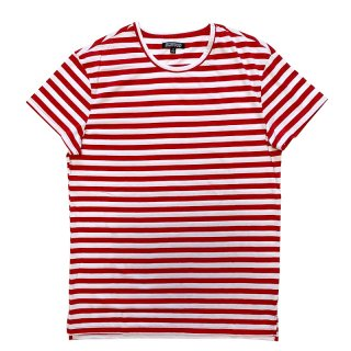 ELWOOD SS CLASSIC TEE STRIPED RED