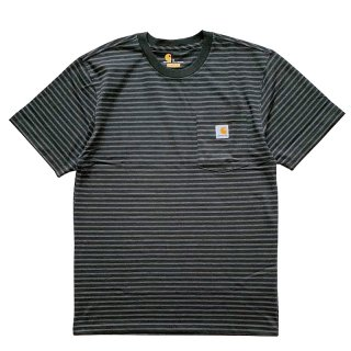 CARHARTT BORDER POCKET TEE KHAKI
