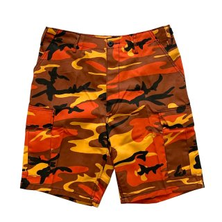 ROTHCO BDU SHORTS SAVEGE ORANGE CAMO