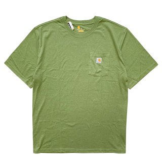 CARHARTT POCKET TEE OIL GREEN HEATHER