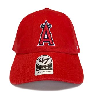 "'47 BRAND ""LOS ANGELES ANGELS"" CLEAN UP TWILL CAP RED"