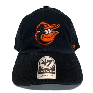"'47 BRAND ""BALTIMORE ORIOLES"" CLEAN UP TWILL CAP BLACK"