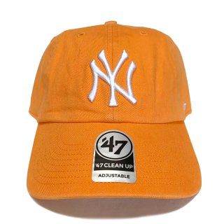 "'47 BRAND ""NEW YORK YANKEES"" CLEAN UP TWILL CAP ORANGE"