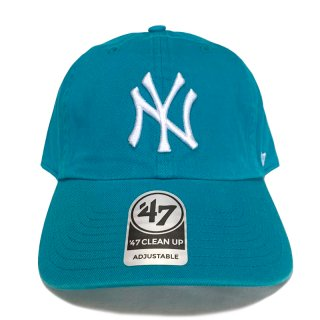 "'47 BRAND ""NEW YORK YANKEES"" CLEAN UP TWILL CAP ASH AQUA"