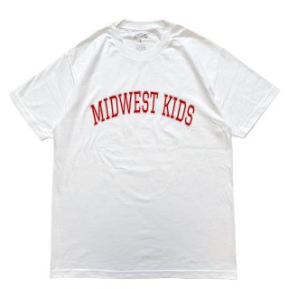 MIDWEST KIDS MWK LOGO TEE WHITE RED