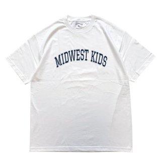 MIDWEST KIDS MWK LOGO TEE WHITE NAVY
