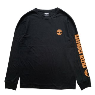 TIMBERLAND ARM LOGO LONG SLEEVE TEE BLACK