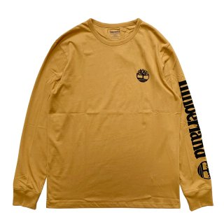 TIMBERLAND ARM LOGO LONG SLEEVE TEE WEAT