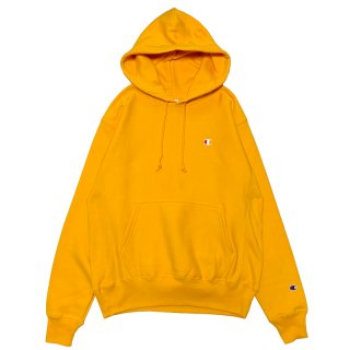 CHAMPION REVERSE WEAVE PULLOVER HOODY GOLD