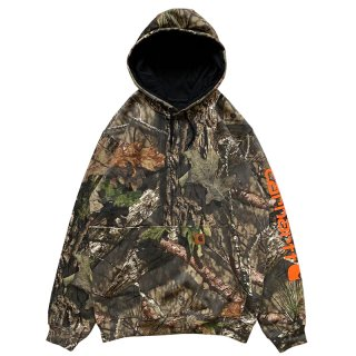 CARHARTT ARM LOGO PULLOVER HOODIE REAL TREE CAMO