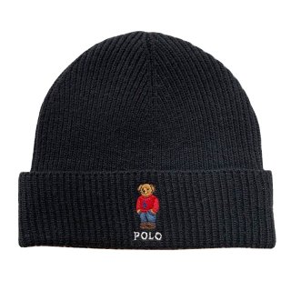 POLO RALPH LAUREN POLO BEAR BEANIE BLACK