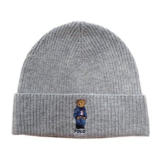 POLO RALPH LAUREN POLO BEAR BEANIE GREY