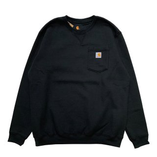 CARHARTT CREWNECK POCKET SWEATSHIRT BLACK