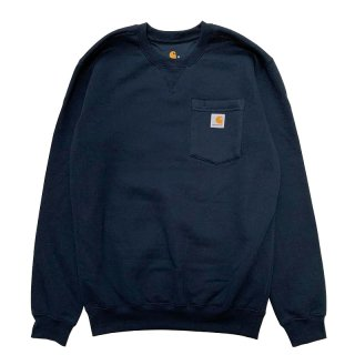 CARHARTT CREWNECK POCKET SWEATSHIRT NAVY